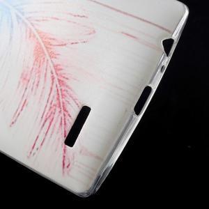 Softy gélový obal pre mobil LG G4 - pierko - 4