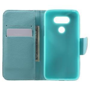Wall peňaženkové puzdro pre LG G5 - kvetiny - 4