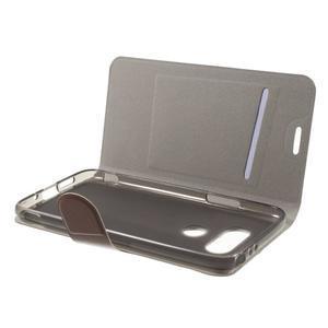 Horse PU kožené peňaženkové puzdro pre LG G5 - hnedé - 4