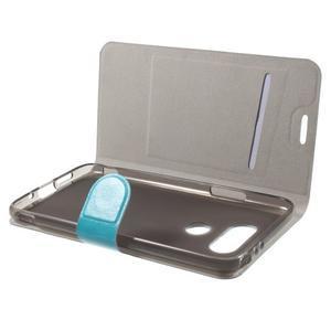 Horse PU kožené peňaženkové puzdro pre LG G5 - modré - 4