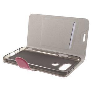 Horse PU kožené peňaženkové puzdro pre LG G5 - rose - 4