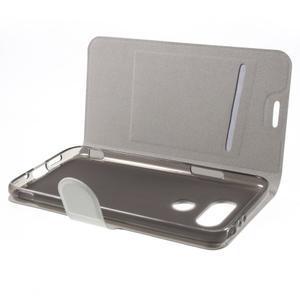 Horse PU kožené peňaženkové puzdro pre LG G5 - biele - 4