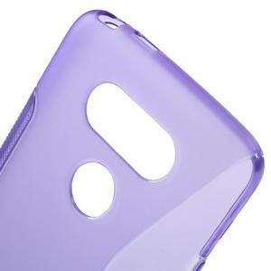 S-line gélový obal pre mobil LG G5 - fialový - 4