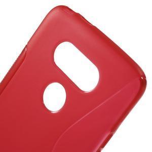 S-line gelový obal na mobil LG G5 - červený - 4
