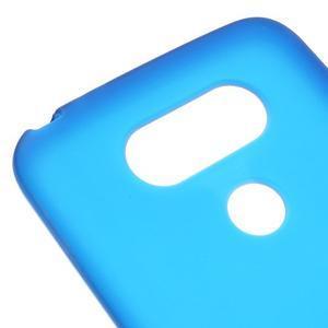 Matný gelový kryt na mobil LG G5 - modrý - 4