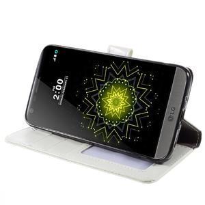 Wax peňaženkové puzdro pre LG G5 - biele - 4