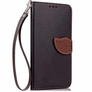 Leaf PU kožené puzdro pre LG G5 - čierne - 4