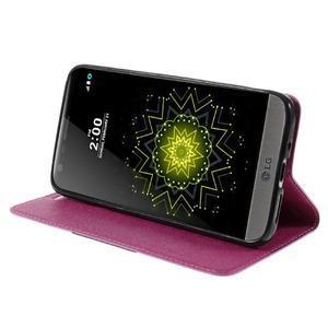 Klopové peneženko puzdro pre LG G5 - rose - 4