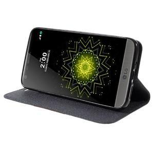 Klopové peňaženkové puzdro pre LG G5 - sivé - 4