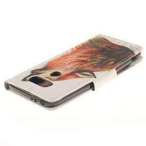 Obrázkové koženkové puzdro pre LG G5 - vlk - 4