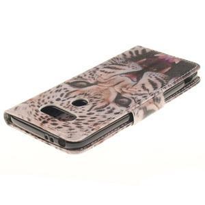 Obrázkové koženkové pouzdro na LG G5 - leopard - 4