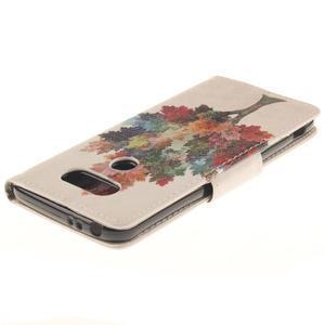 Obrázkové koženkové puzdro pre LG G5 - farebný strom - 4