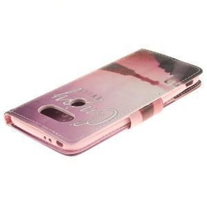 Obrázkové koženkové puzdro pre LG G5 - enjoy - 4