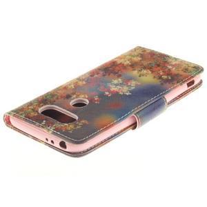 Obrázkové koženkové puzdro pre LG G5 - maľované listí - 4