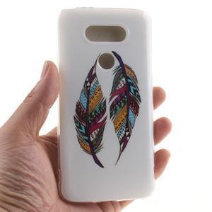 Softy gelový obal na mobil LG G5 - peříčka - 4