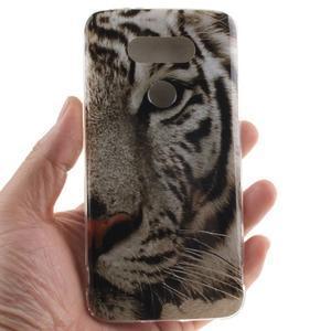 Softy gélový obal pre mobil LG G5 - biely tygr - 4