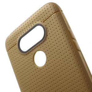 Rubby gelový kryt na LG G5 - hnědý - 4