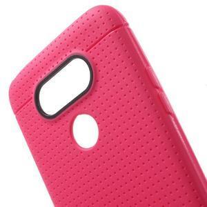 Rubby gélový kryt pre LG G5 - rose - 4