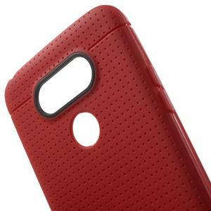 Rubby gélový kryt pre LG G5 - červený - 4