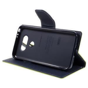 Goos stylové PU kožené puzdro pre LG G5 - zelené - 4