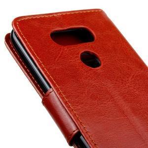 Lees peňaženkové puzdro pre LG G5 - hnedé - 4