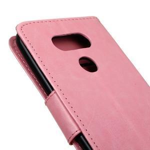 Lees peňaženkové puzdro pre LG G5 - ružové - 4