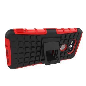 Outdoor odolný obal pre mobil LG G5 - červený - 4