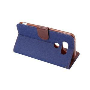 Jeans peněženkové pouzdro na LG G5 - tmavěmodré - 4