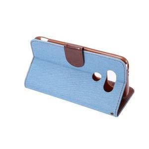 Jeans peňaženkové puzdro pre LG G5 - svetlomodré - 4