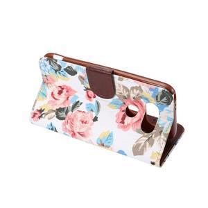 Kvetinové puzdro pre mobil LG G5 - biely vzor - 4