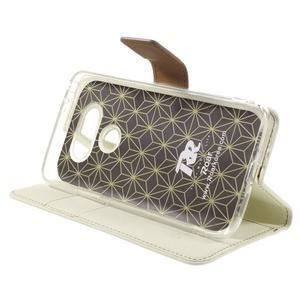 Diary PU kožené pouzdro na mobil LG G5 - bílé - 4
