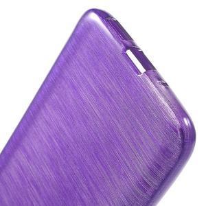 Hladký gelový obal s broušeným vzorem na LG G5 - fialový - 4