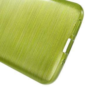 Hladký gelový obal s broušeným vzorem na LG G5 - zelený - 4