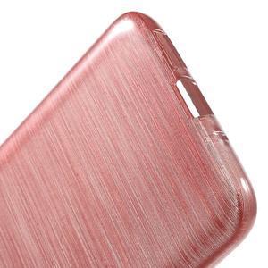 Hladký gélový obal s brúseným vzorem na LG G5 - ružový - 4