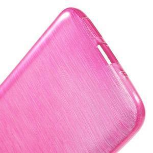 Hladký gélový obal s brúseným vzorem na LG G5 - rose - 4