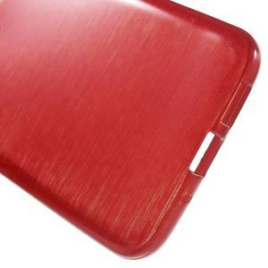 Hladký gélový obal s brúseným vzorem na LG G5 - červený - 4