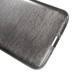Hladký gelový obal s broušeným vzorem na LG G5 - černý - 4