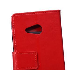 GX koženkové puzdro pre mobil Microsoft Lumia 550 - červené - 4
