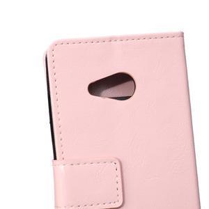 GX koženkové puzdro pre mobil Microsoft Lumia 550 - ružové - 4