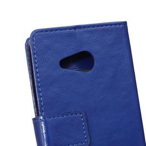 GX koženkové puzdro pre mobil Microsoft Lumia 550 - modré - 4