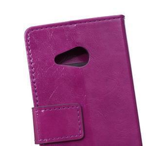 GX koženkové puzdro pre mobil Microsoft Lumia 550 -  fialové - 4