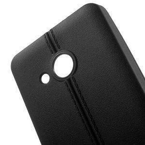 Lines gélový kryt so švy na Microsoft Lumia 550 -  čierny - 4