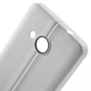 Lines gélový kryt so švy na Microsoft Lumia 550 - biely - 4