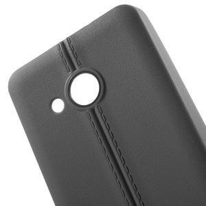 Lines gélový kryt so švy na Microsoft Lumia 550 - šedý - 4