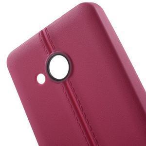 Lines gélový kryt so švy na Microsoft Lumia 550 - rose - 4