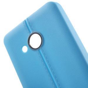 Lines gélový kryt so švy na Microsoft Lumia 550 - modrý - 4
