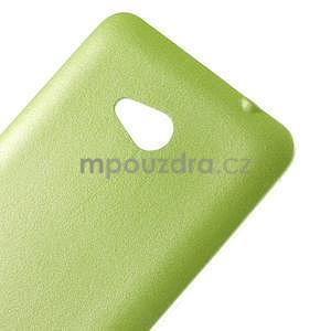 Gélový kryt s imitáciou kože pre Microsoft Lumia 640 - zelený - 4