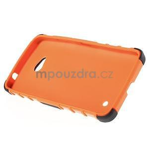 Vysoko odolný kryt so stojanom na Microsoft Lumia 640 - oranžový - 4