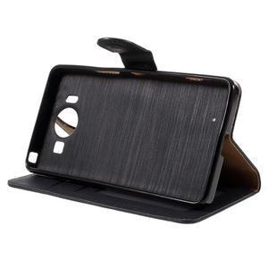 Cloth Peňaženkové puzdro pre mobil Microsoft Lumia 950 - čierne - 4