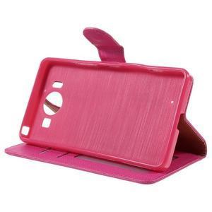 Cloth Peňaženkové puzdro pre mobil Microsoft Lumia 950 - rose - 4